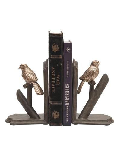 Kuş Dekorlu Kitap Desteği-Warm Design